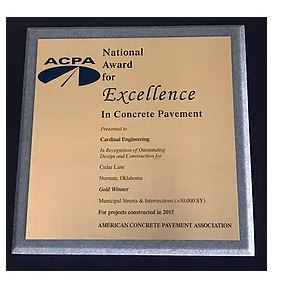 Cardinal Engineering Receives National ACPA Gold Award
