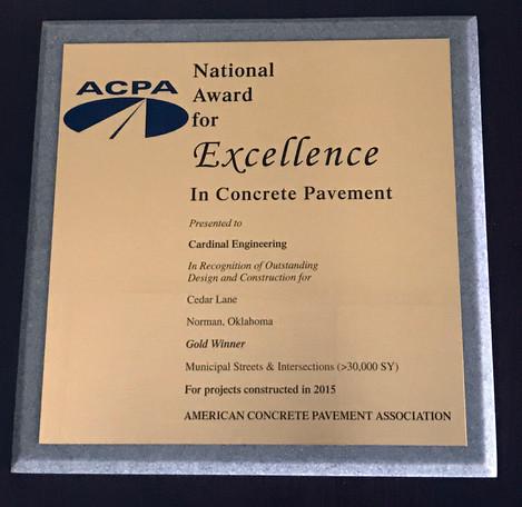 Cardinal Engineering Receives National ACPA Gold Award