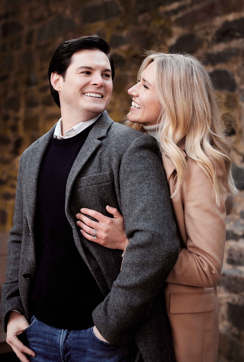 Engagement photography at the Carlyle House Historic Park Garden in Old Town Alexandria