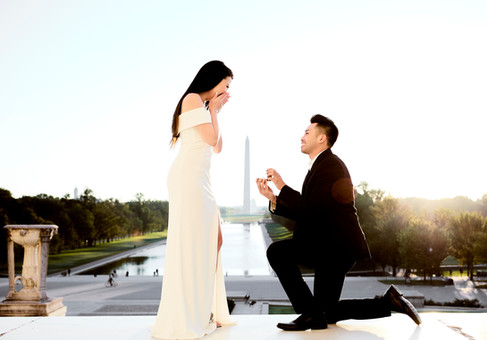 SURPRISE ENGAGEMENT AT LINCOLN MEMORIAL | ASHLEY & KYLE