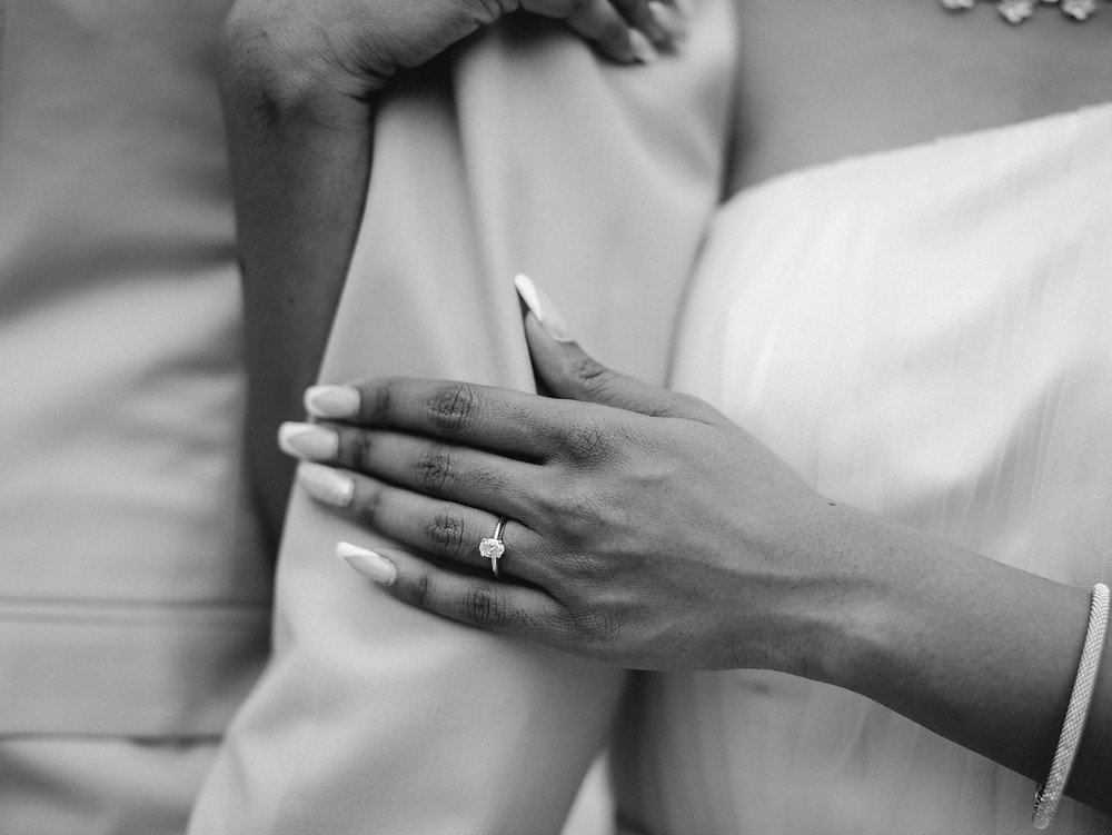 Engagement photo of wedding ring