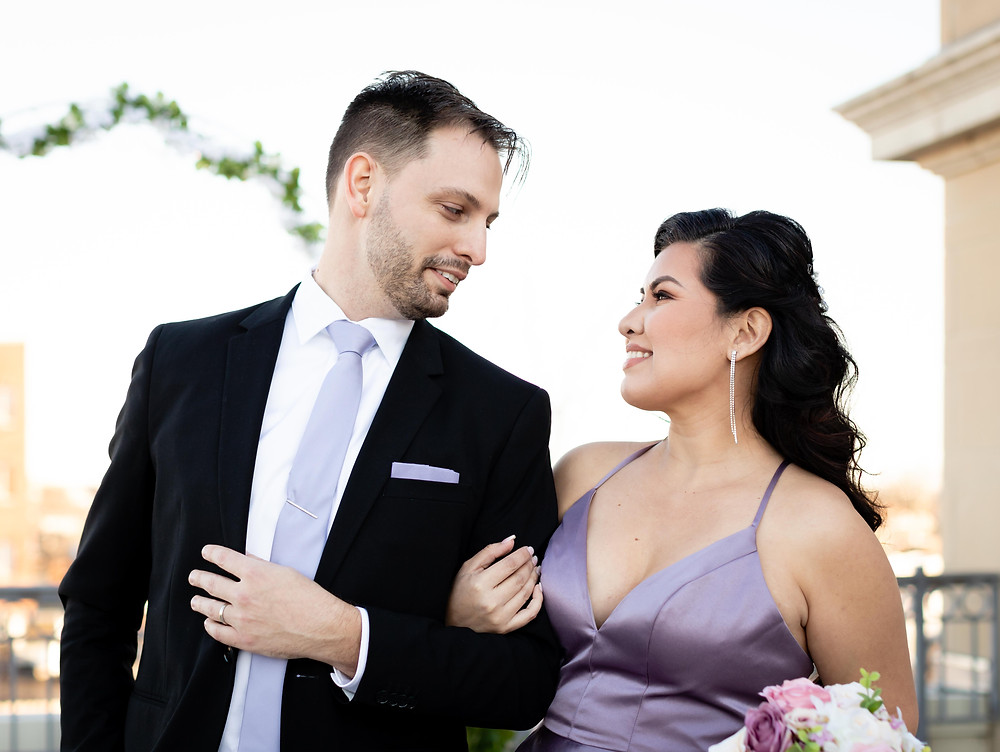 Wedding photography at the Lorien Hotel and Spa in Old Town Alexandria.