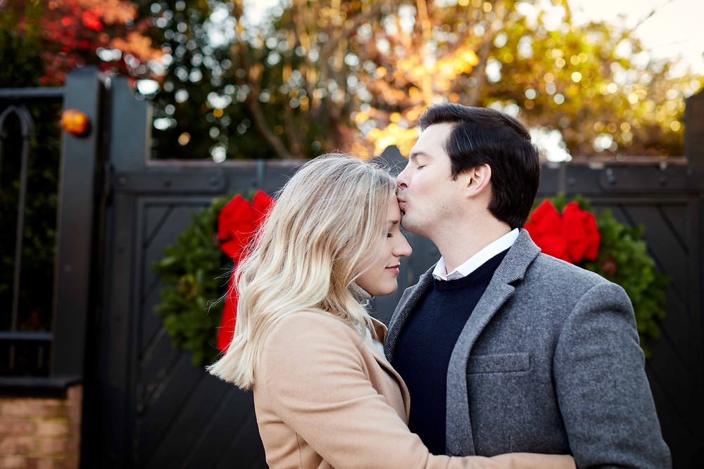 Engagement photography at Captain's Row in Old Town Alexandria