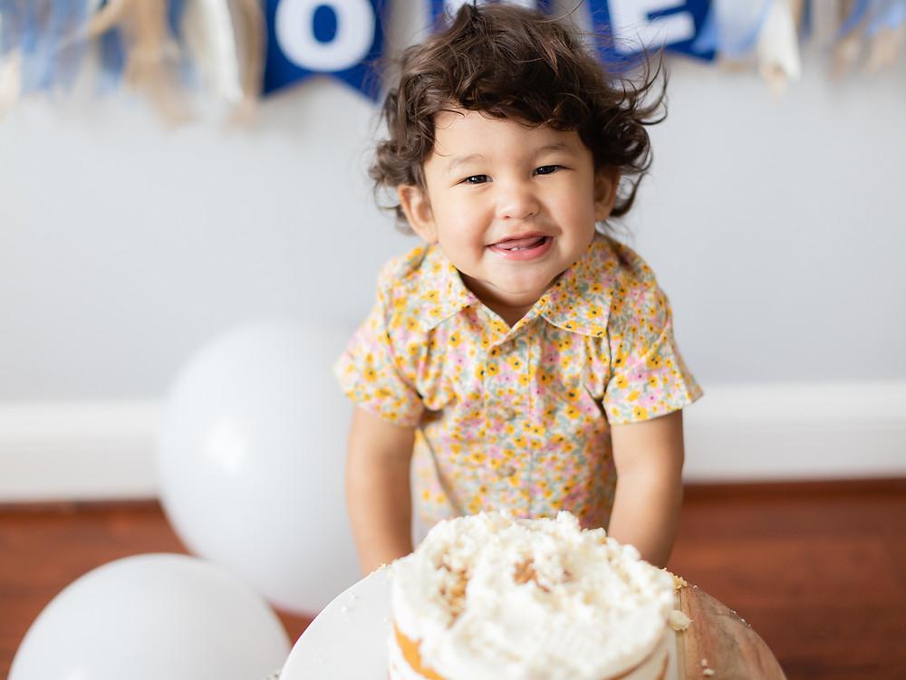 Birthday smash cake photoshoot in DC