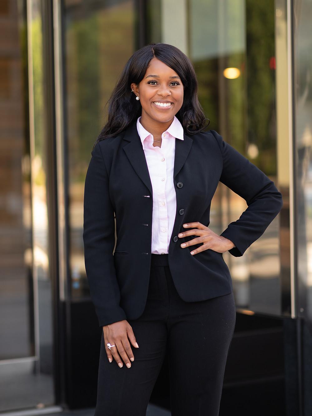 Beautiful professional woman headshot in Washington, DC