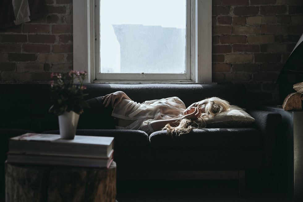 Sleeping Woman on Couch