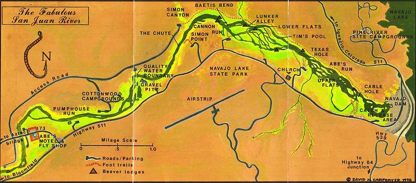 San Juan River Map | San Juan River Lodging