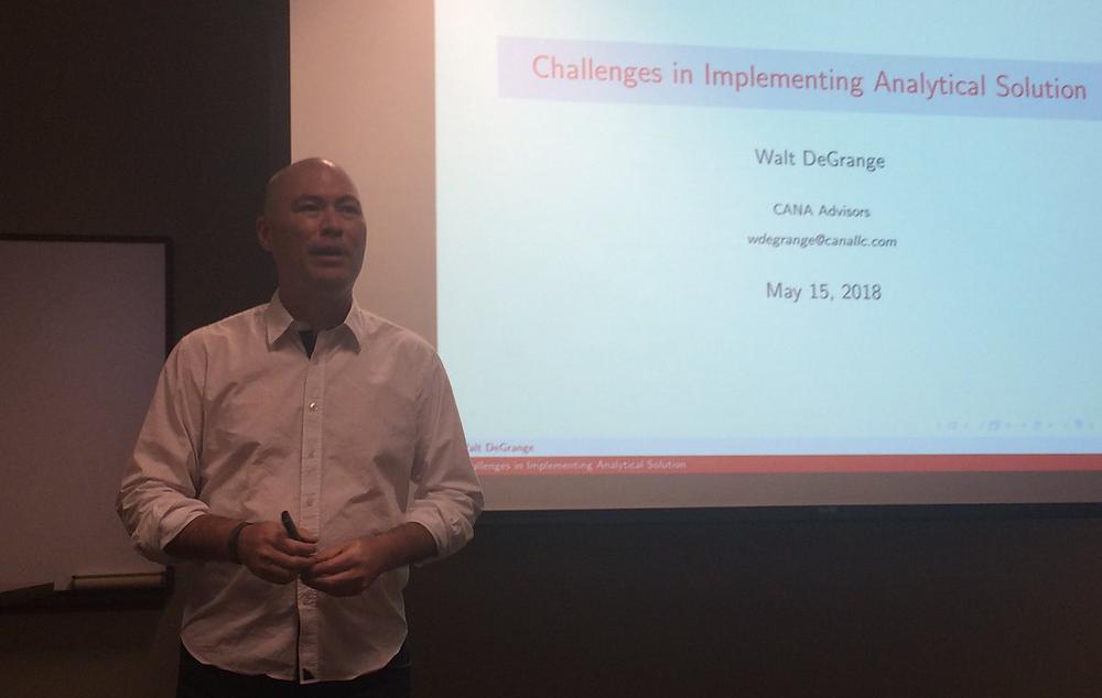 Walt giving a presentation at a Meetup