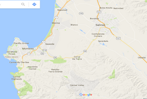 Map of the Central California Region