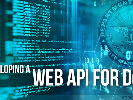 Developing a Web API for DoD