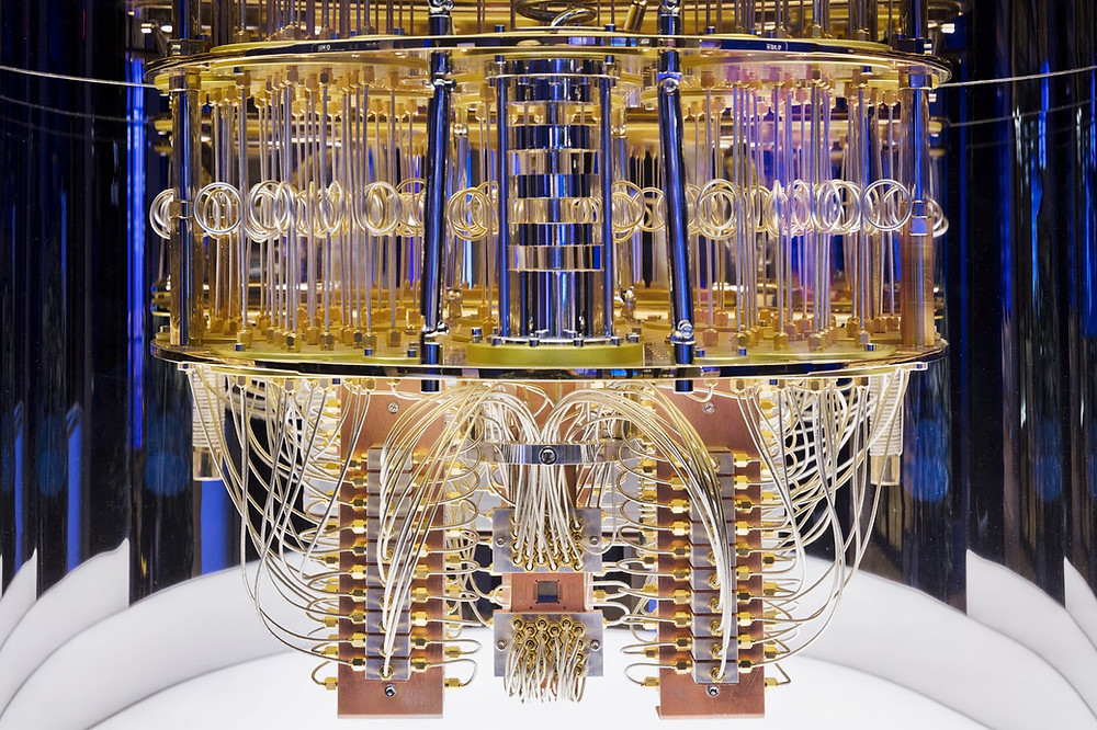Interior of IBM Quantum computing system