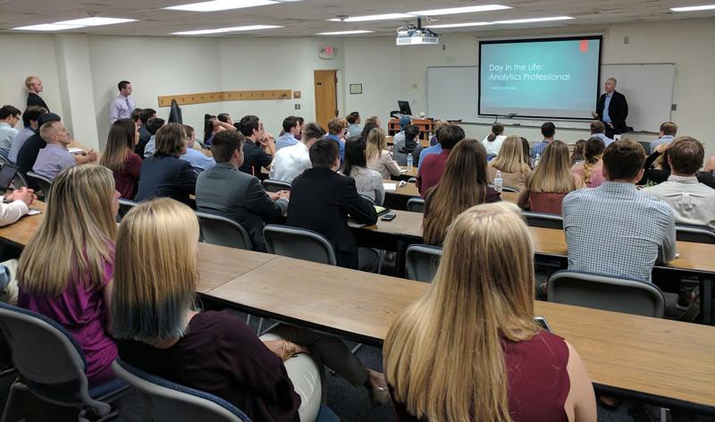 Walt DeGrange giving NC State Analytics presentation