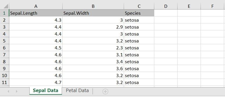 Excel example from Shiny