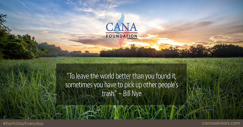 CANA Foundation helps clean up on Earth Day 2020