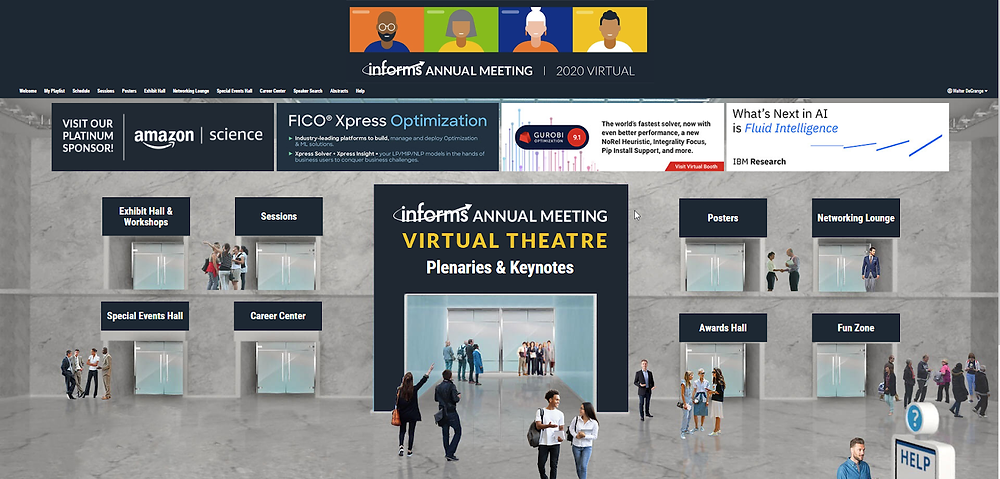 Virtual conference entrance image