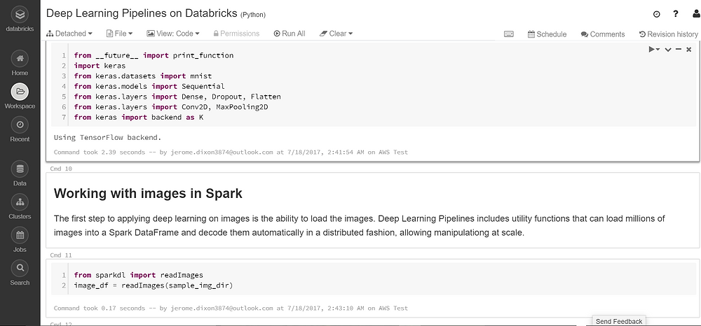 Databricks Notebook Workspace