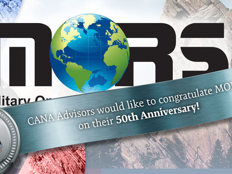 Congratulations on the 50th Anniversary of MORS!
