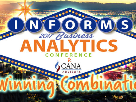 CANA at INFORMS Business Analytics 2017
