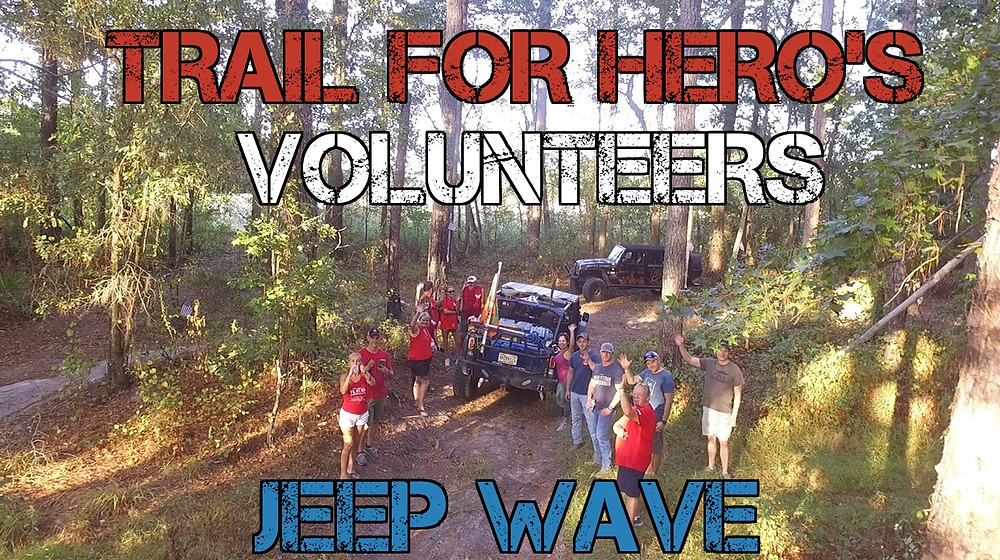 Train for Hero's Jeep Wave Volunteers