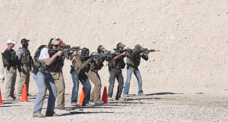 Firearms training, tactical training