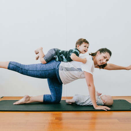 My top three postnatal moves for the lounge room