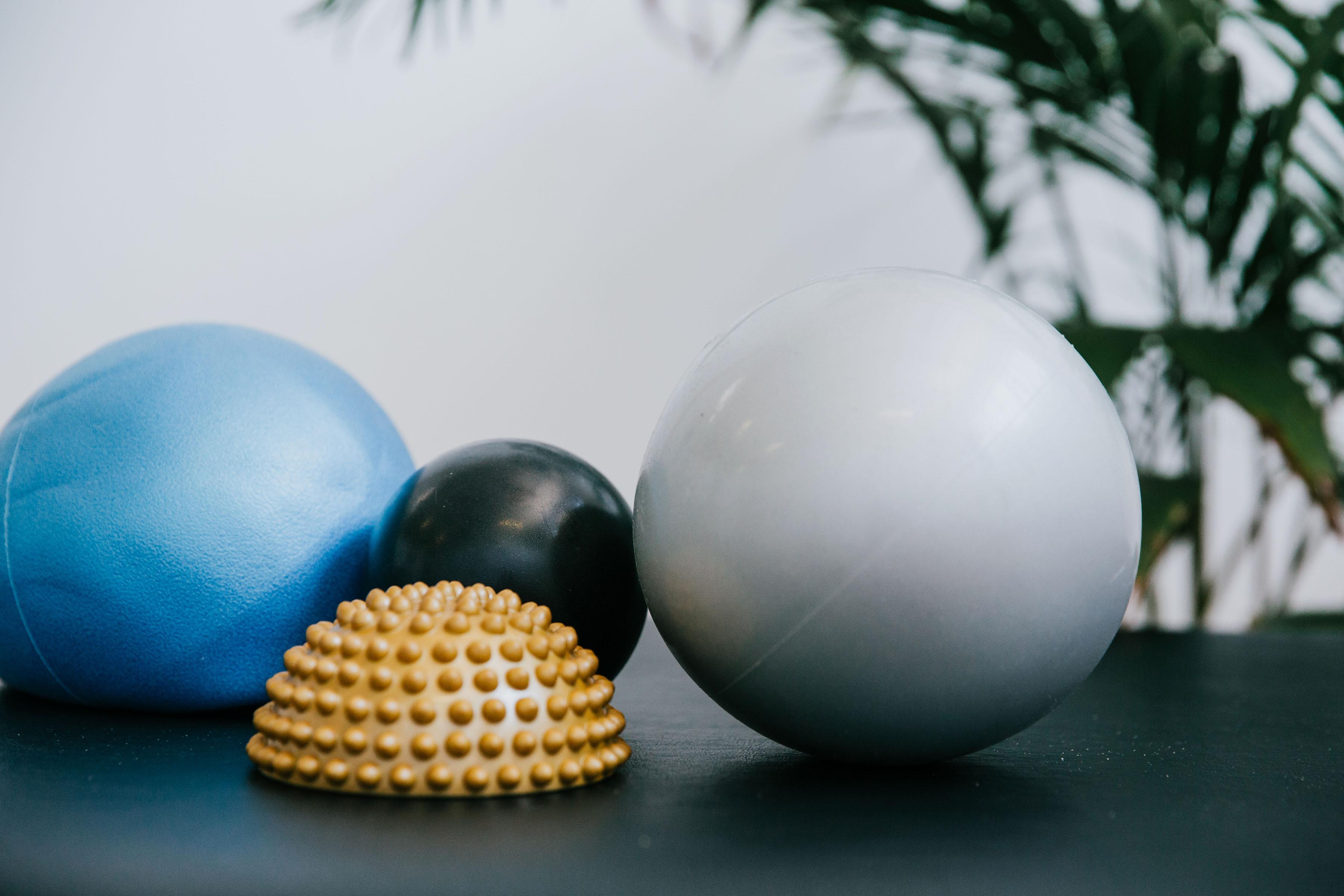 Balls and a hedgehog
