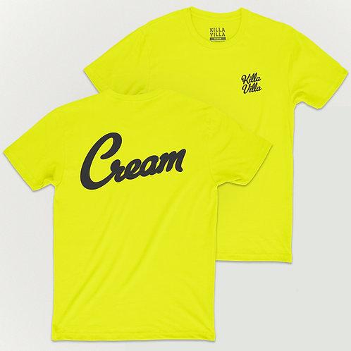 Cream Tee -Yellow/Black