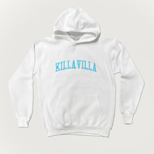 Killa Villa Pool Party Hoodie - White/Blue