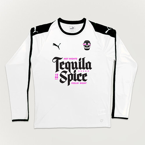Killa Villa 'Tequila Spice' White/Black/Pink LS Shirt
