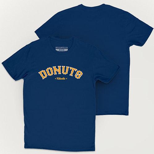 Throwback Donuts Tee - Cool Blue/Orange/White