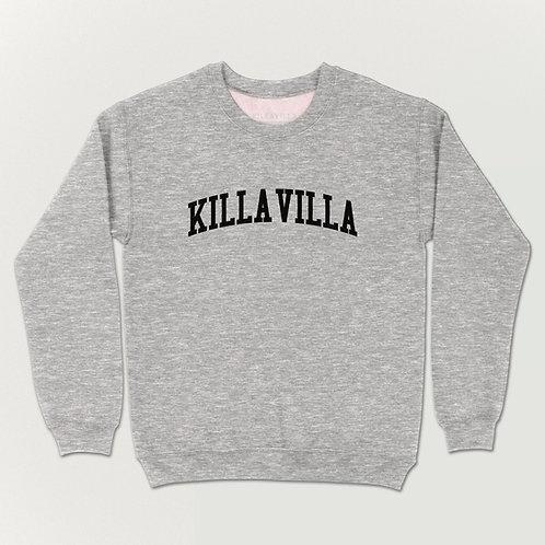 Killa Villa Collegiate Sweater - Grey