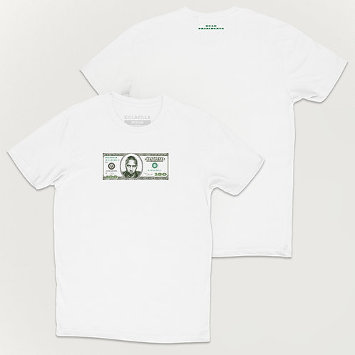 Nasty Nas $100 Dollar Bill Tee - White/Green