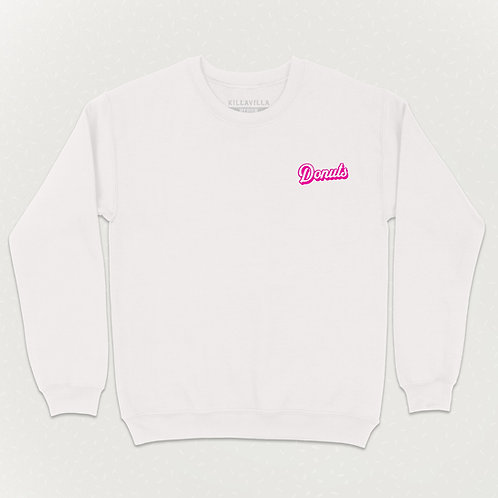 Killa Villa Donuts Sweater - White/Pink
