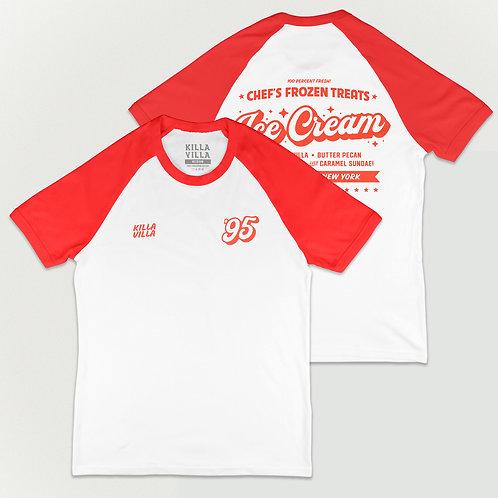 Ice Cream Baseball Tee - White/Red