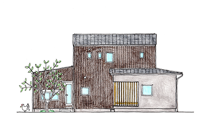 かねこ建築製作所_注文住宅_大人の時間と大人の小屋_羽生美の家 イラスト.png