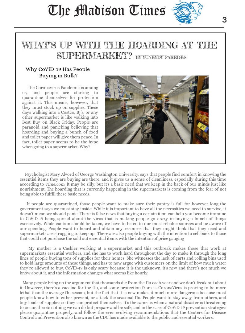 Hoarding at Supermarkets