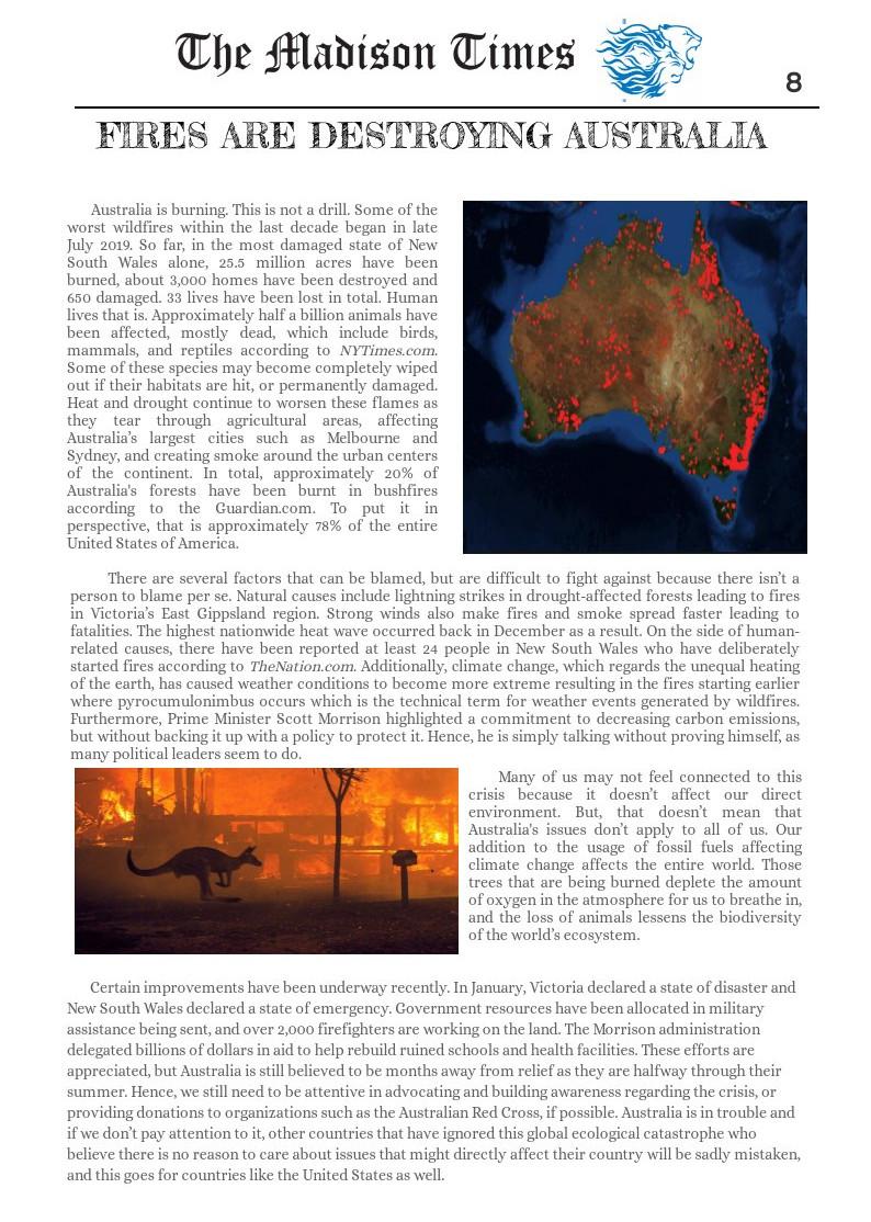 Fires are Destroying Austrailia