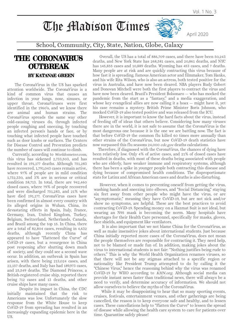 The Coronavirus Outbreak