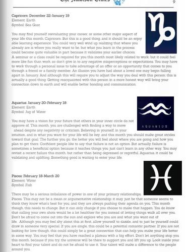 Horoscopes cont.