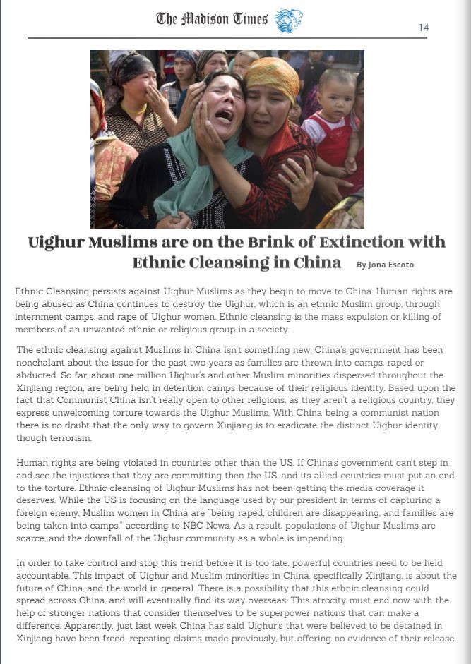 Uighur Muslims are on the Brink of Extinction with Ethnic Cleansing in China