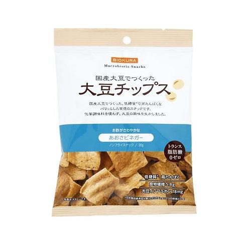 ノンフライ 大豆チップス あおさビネガー 35g(1袋)