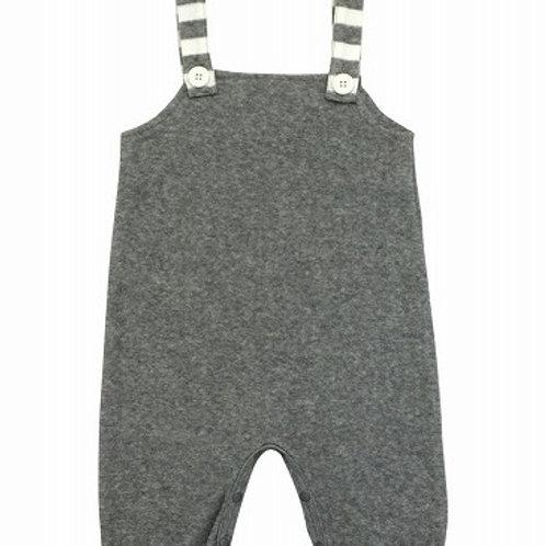 Anna Nicola 日本製 パイル素材 サロペットロンパース ベビー服 グレー 70cm