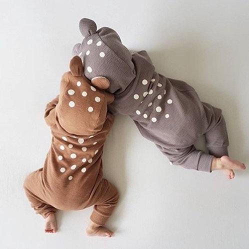 オシャレなクマちゃん 赤ちゃんロンパース 80cm