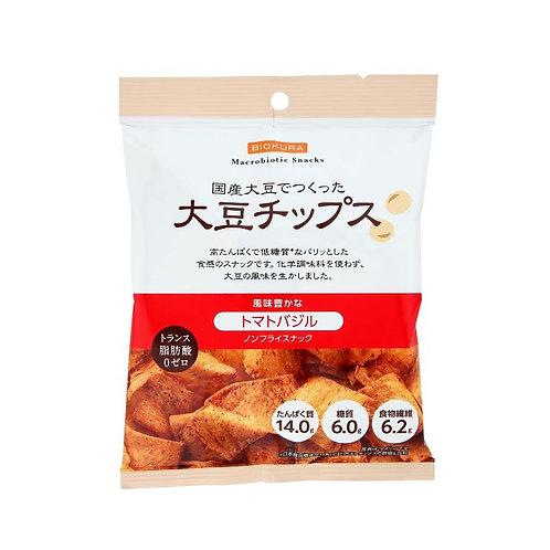 ノンフライ 大豆チップス トマトバジル 40g(1袋)