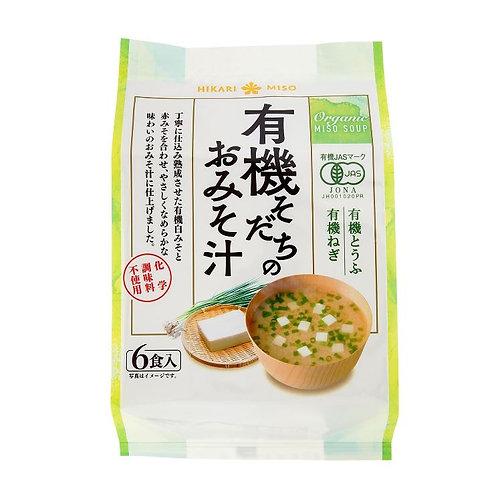 ひかり味噌 有機そだちのお味噌汁 102g(6食分)