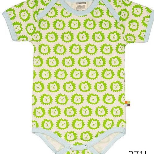 【loud + proud/ドイツ】半袖ロンパース(ライオン柄) Lime 74/80