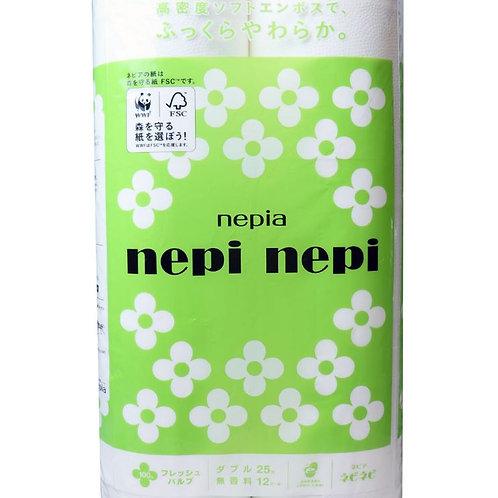 ネピア ネピネピ トイレットペーパー ダブル 無香料 12ロール