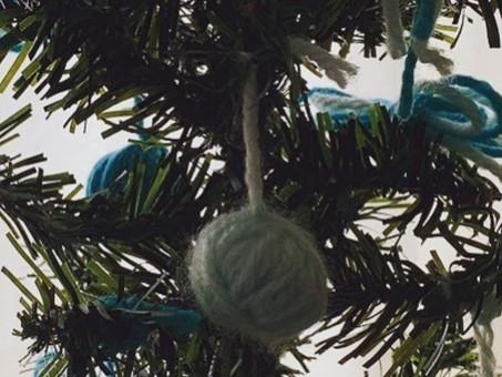 お子様とクリスマスツリーの飾りを作りました🎄✨