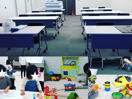 会議室に臨時託児スペースを設置🐣