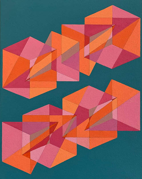 """Benjamin Weaver, untitled (""""Cubes Divided into Three"""" series), 2020"""